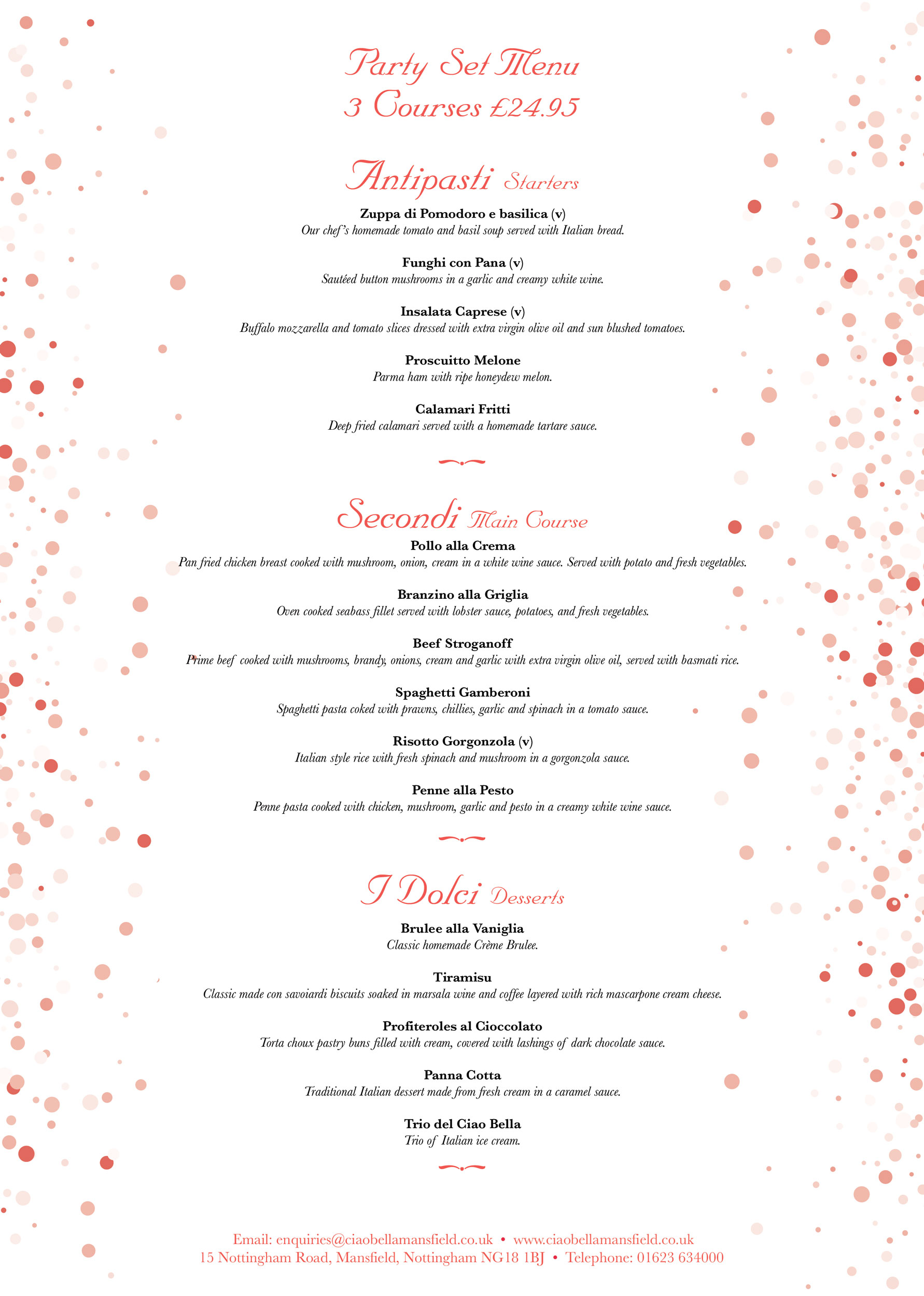 Party-Set-Menu