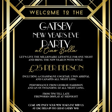 New Years Eve – Gatsby Party at Ciao Bella Lounge